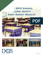 Virginia School Safety Audit Survey Results