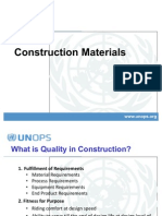 Work Shop - Construction Materials Quality Control
