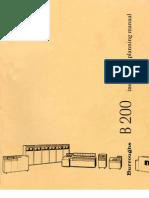 Burroughs B200 Planning Manual - 1972
