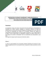 Proposition d'avenant concernant l'amélioration de la CCNT 66... 3-02-2012