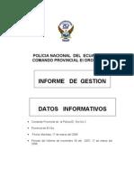 Infor Gestion Sr. Crnl Alberto Revelo