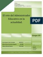 ensayo comunicacion El reto del Administrador Educativo en la actualidad.