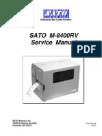 Sato M-8400rv Service Manual