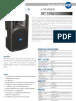 En_ART 315A Spec Sheet