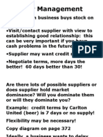 Creditor Management