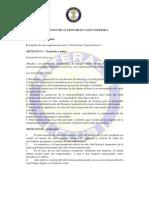 Estatutos y Reglamentos Propuestos para el Club Interact Santa Bárbara, Bogotá.