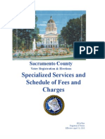 Elections Fee Schedule