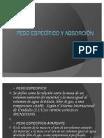 PESO ESPECÍFICO Y ABSORCIÓN