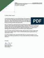 Steve Aspinall Recommendation Letter