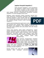 Pencegahan Penyakit Hepatitis C