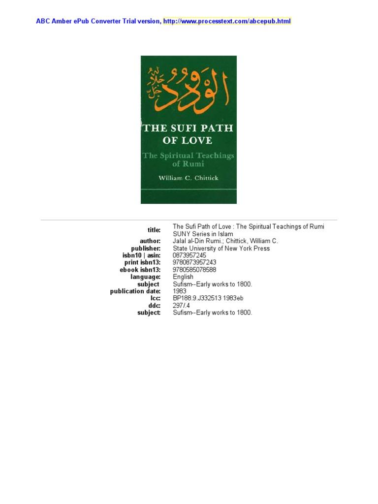 The sufi path of love the spiritual teachings of rumi by w c the sufi path of love the spiritual teachings of rumi by w c chittick rumi sufism fandeluxe Choice Image