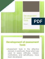 Group 5-Development of Assessment Tools