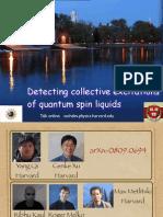 Detecting collective excitations of quantum spin liquids