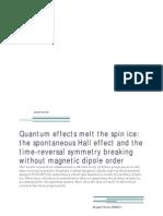 Shigeki Onoda- Quantum effects melt the spin ice