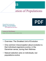 23- Evolution of Populations Text