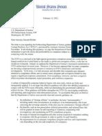 Letter to AG Holder From Senators Klobuchar and Coons Regarding FCPA Guidance