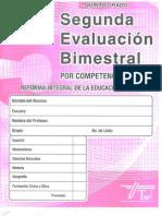 Examen 2do Bim Quinto Grado Editorial