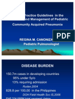 Clinical Practice Guidelines in the Evaluation and Management of PCAP