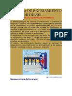 Sistema de Enfriamiento Motor Diesel