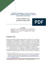 Proyecto reforma a las escuelas de Criminología y Criminalística en México