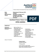 AKL Future Vision Committee Agenda 22/2/12