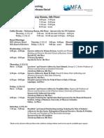2012 MFA Meeting Summary of Events