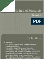 Method of Research LEC3 2012