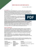 A Peek Inside Oracle ASM Metadata