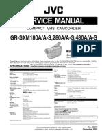 Jvc Gr-sxm180 Sxm280 Sxm480 a-A-s Service Manual
