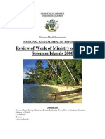 Health Report 2000 -Solomon Islands