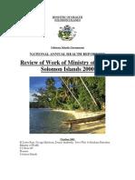 Health Report 2000 -Solomon Islands