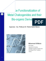 O9_Mohsin - Surface Functionalization of Metal Chalcogenides and Their Bio-Organic Derivatives