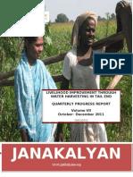 JANAKALYAN's Livelihood Improvement Intervention through Water Harvesting in Gadag (Volume III)