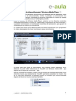 Sincronización de dispositivos con Windows Media Player 11