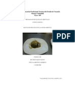 Recetas de Cocina Oriental Conalep
