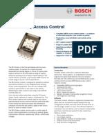 Bosch Reg-Sentry Controller Data Sheet