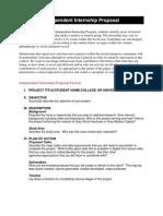Internship Proposal Format