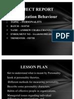 Project Report - Organization Behaviour