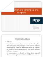 Reconstruction and Winding Up of a Company