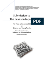 Press Change 4 Youth Recommendations to Leveson - Fair Press and Accessible PCC for Children and Young People