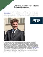 Flavio Cattaneo nominato Uomo dell'anno da Staffetta Quotidiana