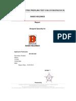 Sample Report for Kyko Psycho Metric Profiling Test for Entrepreneur