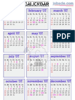 sick day calendar 2007