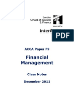ACCA F9 Class Notes