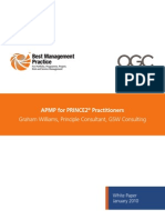 APMP for PRINCE2 Practitioners White Paper