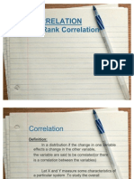 Rank Correlation Coefficient