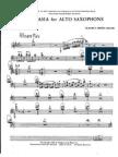 Fantasia for Alto Saxophone .- Partes