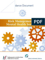 Risk Management in Mental Health Services