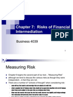 Chapter 7 - Risks of Financial Inter Mediation