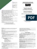 PPGL UFES Fôlder para seleção de aluno regular do Doutorado - 2012-2